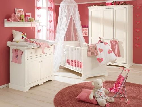 belle chambre pour bébé fille - Photo Déco