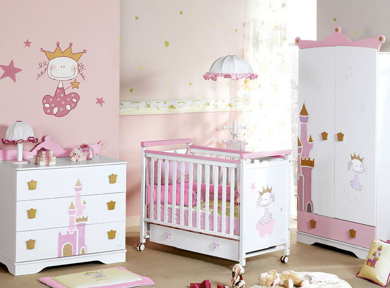 Chambre pour b b fille for Exemple deco chambre bebe