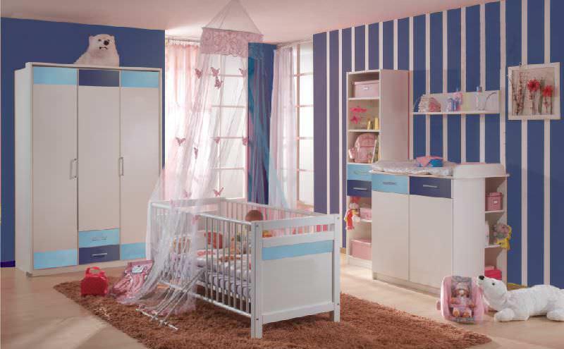 Chambre A Coucher Jeune : modèle chambre pour bébé fille