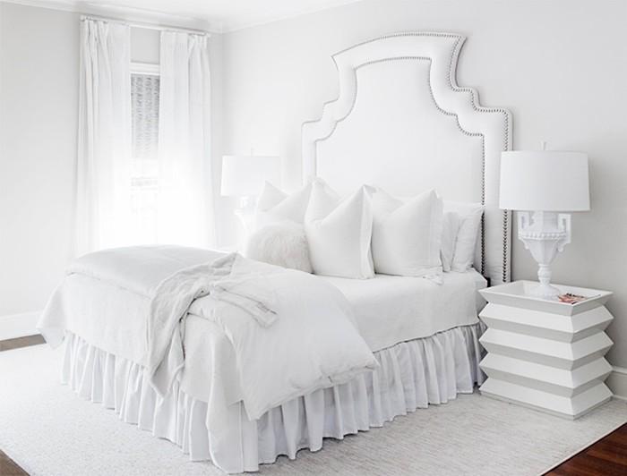 belle deco chambre a coucher blanc