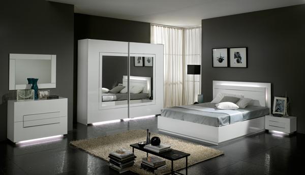 univers deco chambre a coucher blanc