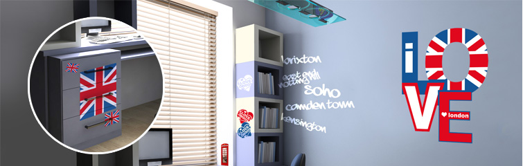 Deco chambre ado fille london - Idee deco chambre london ...