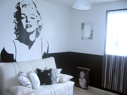 deco chambre ado fille marilyn monroe. Black Bedroom Furniture Sets. Home Design Ideas