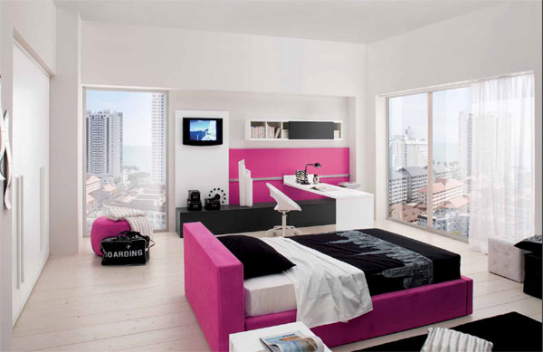 deco chambre ado fille new york. Black Bedroom Furniture Sets. Home Design Ideas