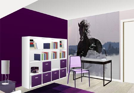 deco chambre ado fille violet - Chambre Ado Fille Moderne Violet