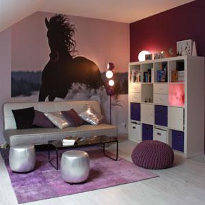 univers deco chambre ado fille violet
