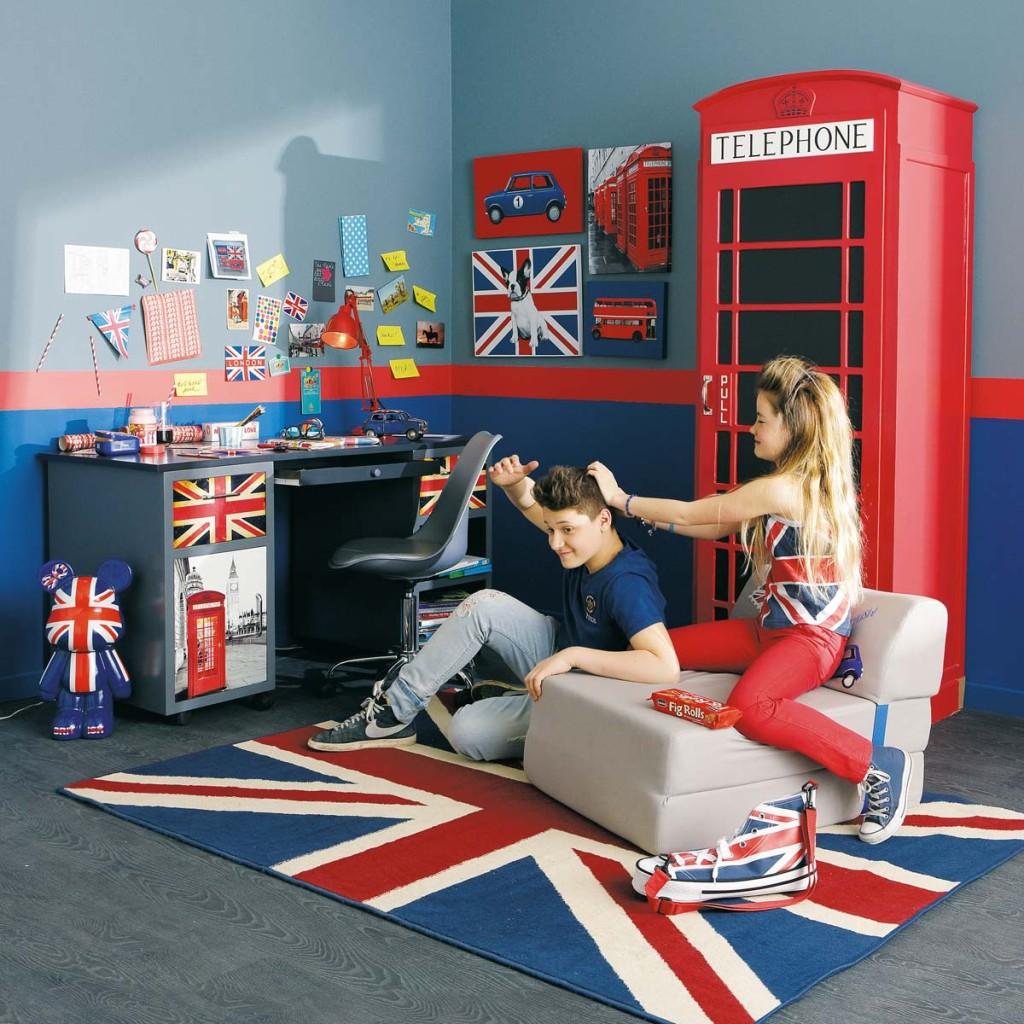 Chambre Ado London Fille : Deco chambre ado garçon london