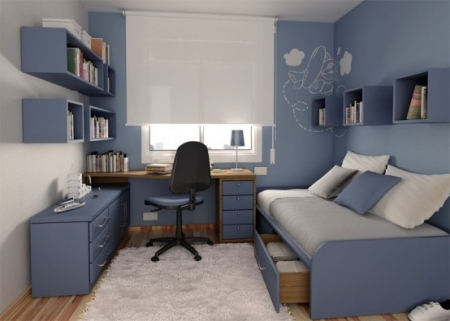 deco chambre ado garcon bleu gris. Black Bedroom Furniture Sets. Home Design Ideas