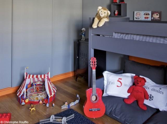 Deco chambre ado garcon gris for Deco chambre garcon 2 ans