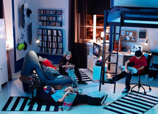 deco chambre ado garcon ikea. Black Bedroom Furniture Sets. Home Design Ideas