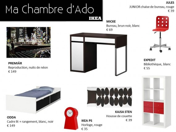 deco chambre ado garcon ikea. Black Bedroom Furniture Sets. Home Design Ideas