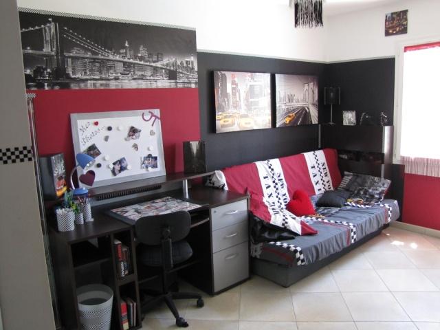deco chambre ado garcon new york. Black Bedroom Furniture Sets. Home Design Ideas