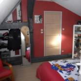 Deco chambre ado garcon photo - Chambre adolescent garcon rouge et gris ...