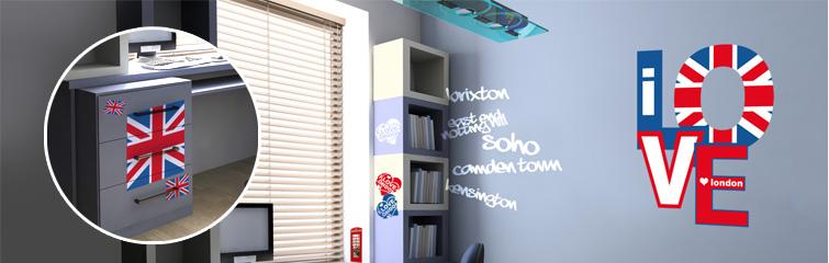 univers deco chambre ado theme london - Decoration Chambre Ado Style Anglais