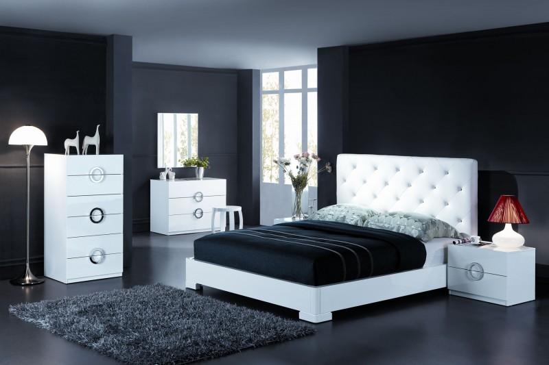organisation deco chambre adulte blanc et noir