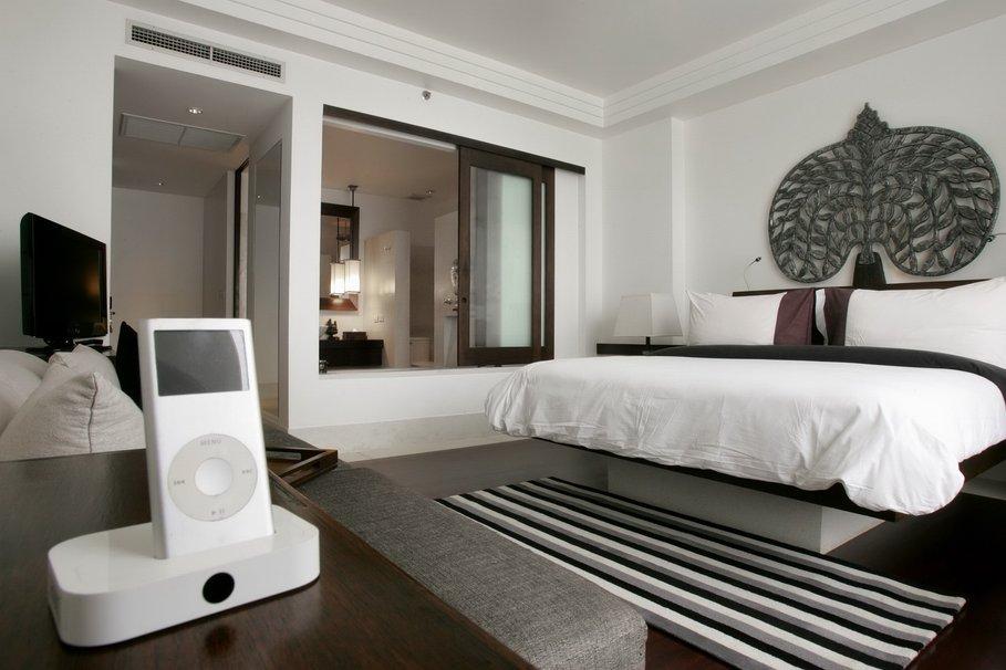 photo decoration deco chambre adulte gris blanc 6