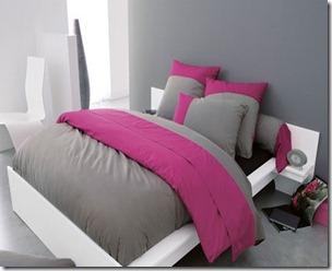 modèle deco chambre adulte gris et rose