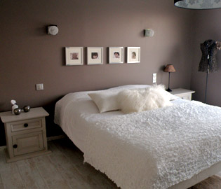Photo deco chambre adulte marron