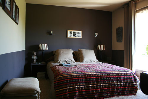 deco chambre adulte marron et beige. Black Bedroom Furniture Sets. Home Design Ideas