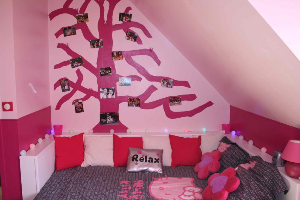 Deco chambre adulte rose et noir for Deco noir et rose
