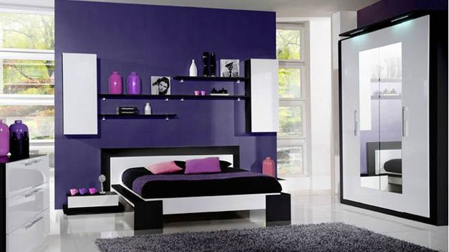 Photo Decoration Deco Chambre Adulte Violet 5