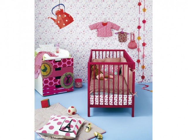 Ordinary Cuisine Pour Fille #10: Photo-decoration-deco-chambre-bebe-fille-liberty-3.jpg