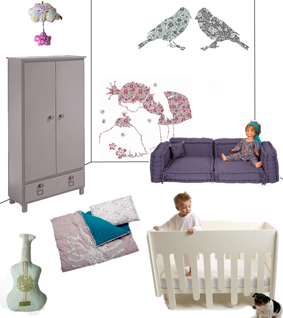 Deco chambre bebe fille liberty - Chambre de bebe fille decoration ...