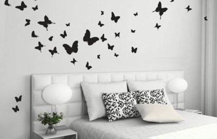 Deco chambre bebe fille papillon - Decoration papillon chambre ...