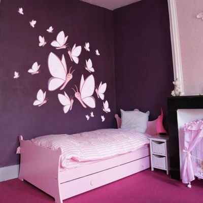 deco chambre bebe fille papillon. Black Bedroom Furniture Sets. Home Design Ideas