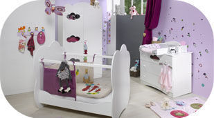 Deco chambre bebe fille pas cher for Organisation chambre bebe