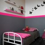 deco chambre bebe fille rose et gris