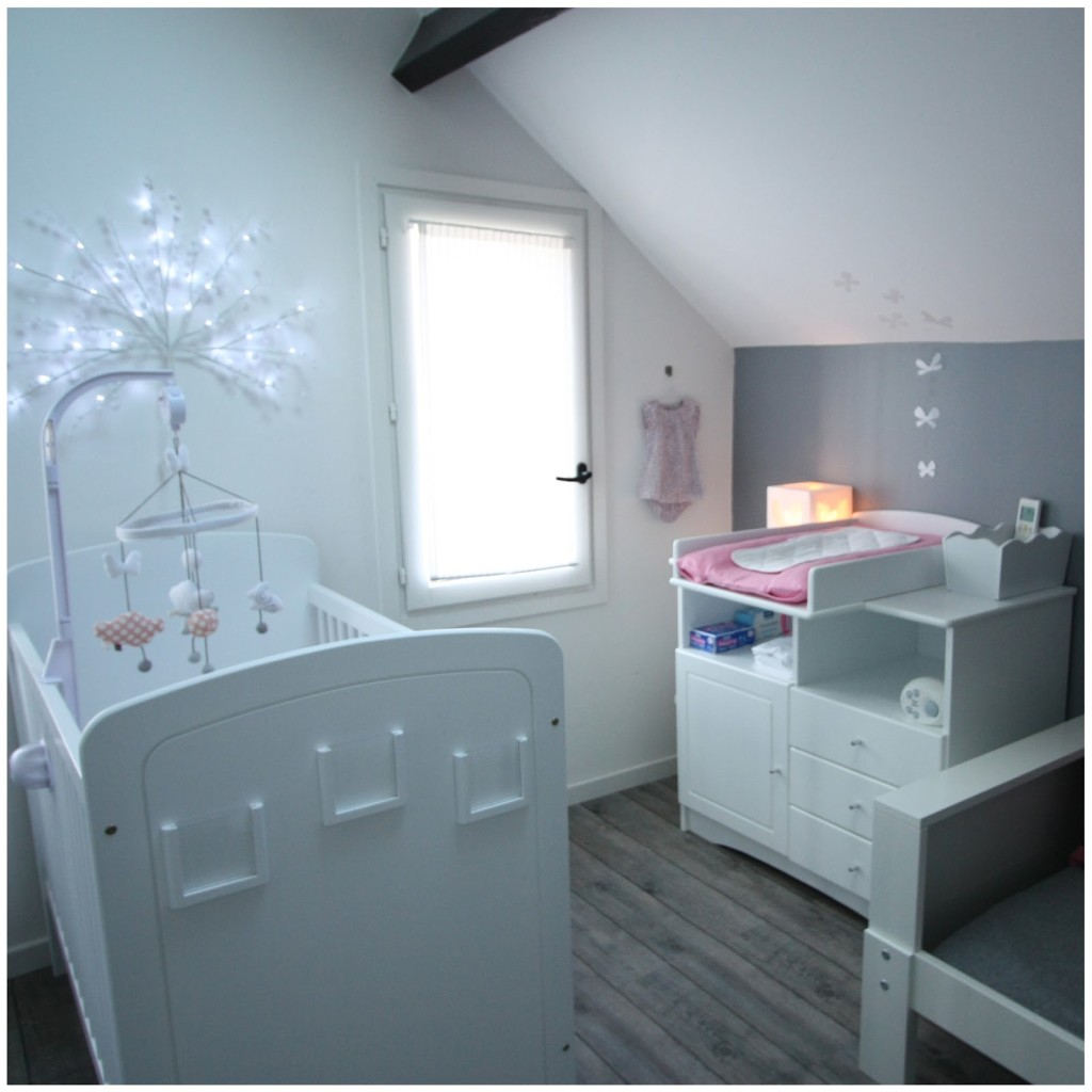 Photo deco chambre bebe fille rose et gris