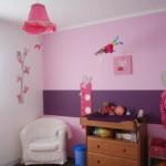 deco chambre bebe fille violet