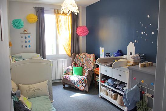 Deco chambre bebe garcon bleu - Idee deco chambre garcon 2 ans ...