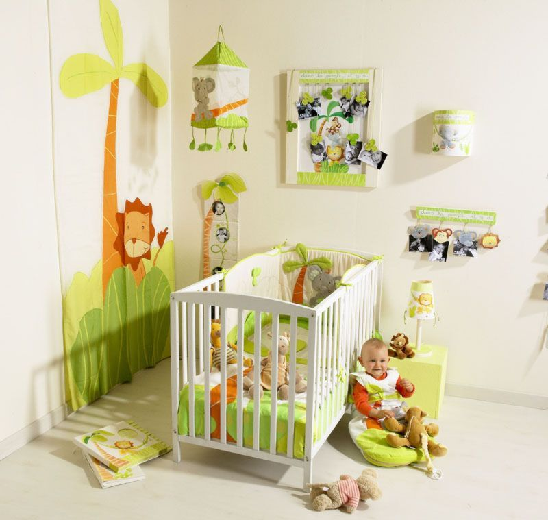 Deco chambre bebe garcon jungle for Decoration des chambres des garcons