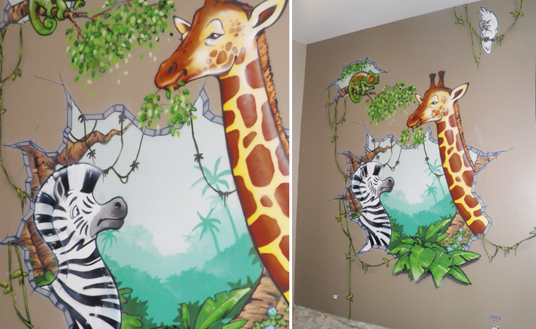 Jolie deco chambre bebe garcon jungle - Photo Déco