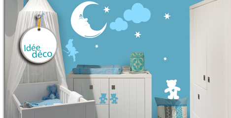 deco chambre bebe garcon stickers. Black Bedroom Furniture Sets. Home Design Ideas