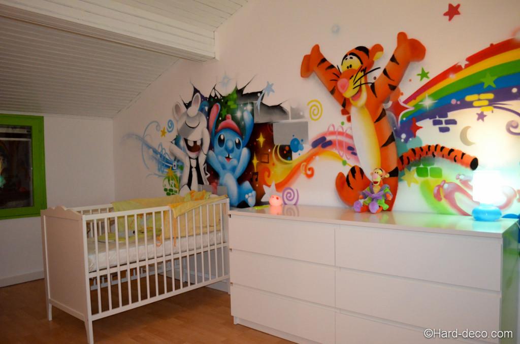 Deco chambre bebe garcon winnie for Deco mural bebe