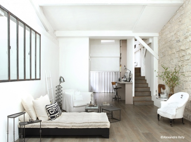 deco chambre blanc et gris. Black Bedroom Furniture Sets. Home Design Ideas