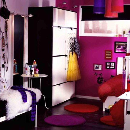 d coration chambre ado fille ikea. Black Bedroom Furniture Sets. Home Design Ideas