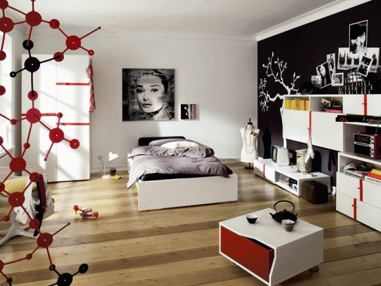 photo decoration deco chambre fille ado moderne 3 - Photo Déco
