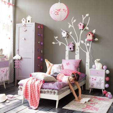 decoration chambre fille nature