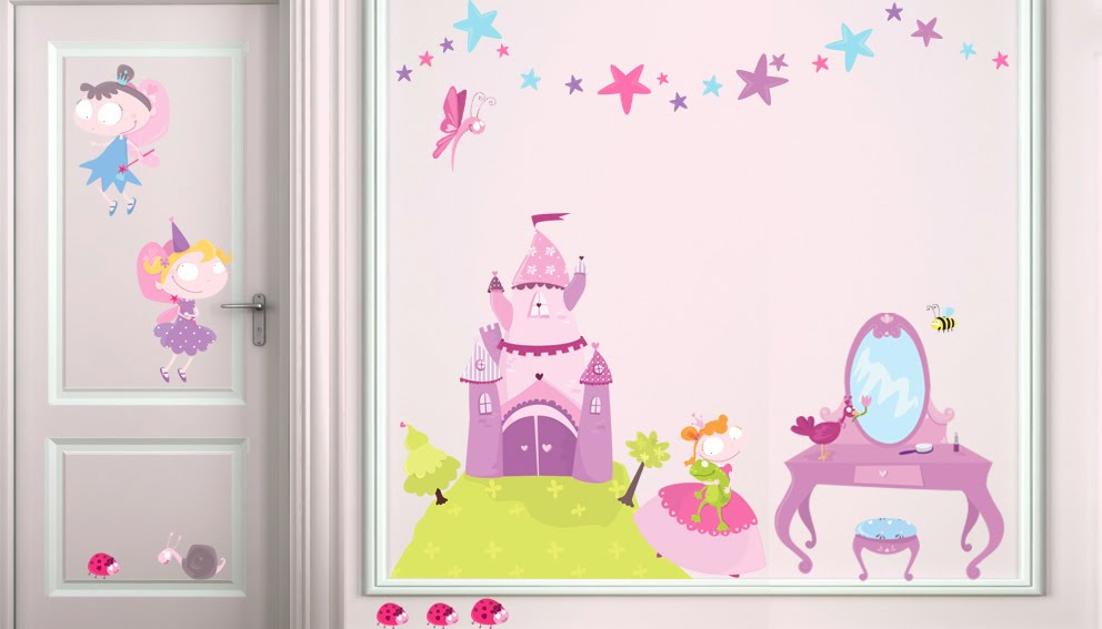 Deco chambre fille princesse for Chambre fille princesse