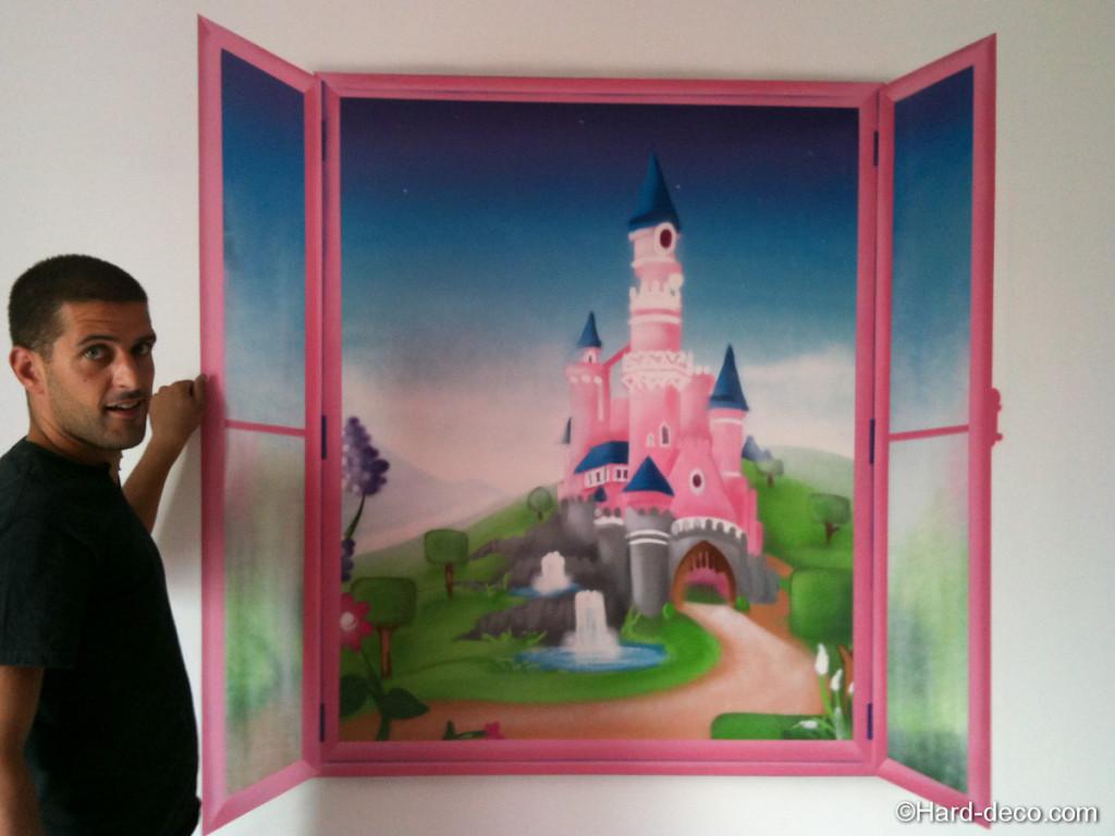 deco chambre fille princesse disney