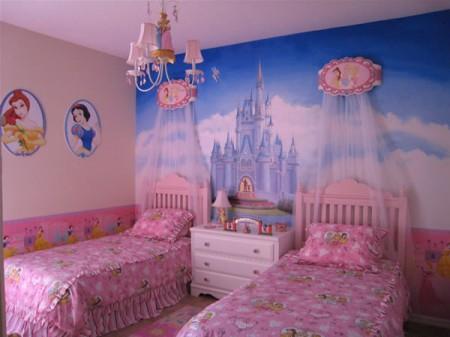 univers deco chambre fille princesse disney