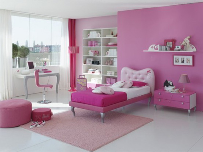 Photo deco chambre fille rose