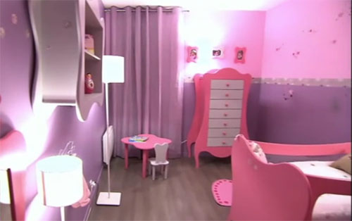 Photo Decoration Deco Chambre Fille Violet