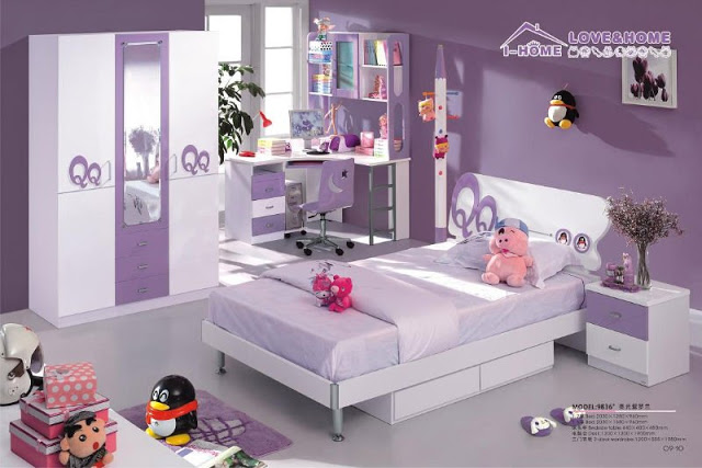 deco chambre fille violet. Black Bedroom Furniture Sets. Home Design Ideas