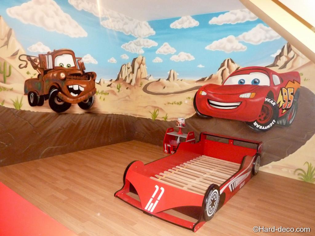 Deco chambre garcon voiture - Chambre garcon theme voiture ...