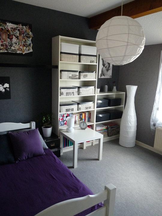 chambre gris et blanc photo deco chambre gris blanc mauve - Chambre Mauve Et Blanche